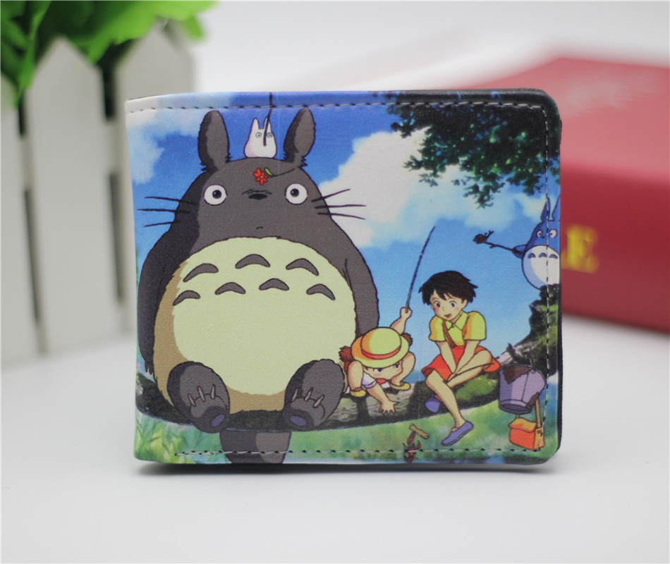 Marvel Comics anime totoro one piece NARUTO Final Fantasy wallet leather pu mens credit card wallet short bifold purse 22 style marvel comics leather character bifold wallet dft 1823