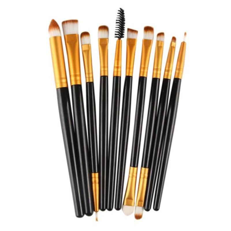 10 pcs Professional makeup brushes Set rose gold Wood ...