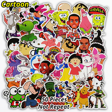 50 Pcs Cartoon Stickers Mixed Funny Cute Cartoon Style Waterproof Snowboard Luggage Laptop Motorcycle Television Doodle Sticker