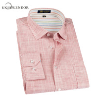 2017 New Spring Linen Casual Shirt Men Long Sleeve Classic Men S Dress Shirts Slim Fit