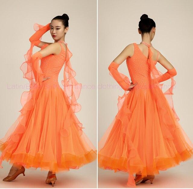 Новые Бальные Танцевальные костюмы сексуальные спандекс камни рукавов бальных танцев платье для женщин бальных танцев конкуренции платья