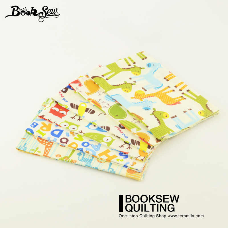 Booksew 6PCS/Lot Lovely Cartoon Design Cotton Fabric Home Textile Tela Tissue For Quilting Bed Sheet Patchwork Baby Dolls Crafts