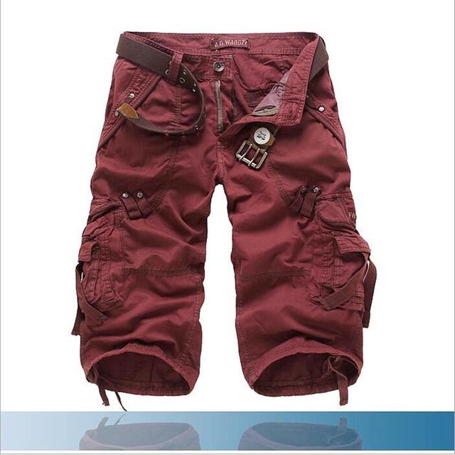 8 Colors Plus Size 29-42 New Brand Summer Camouflage Loose Cargo Shorts Men Camo Summer Short Pants Homme Cargo Shorts NO BELT 4