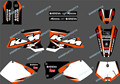 0291 NEW TEAM GRAPHICS WITH MATCHING BACKGROUNDS FIT FOR KTM SX MXC 125/250/380 /400/520 1998 1999 2000