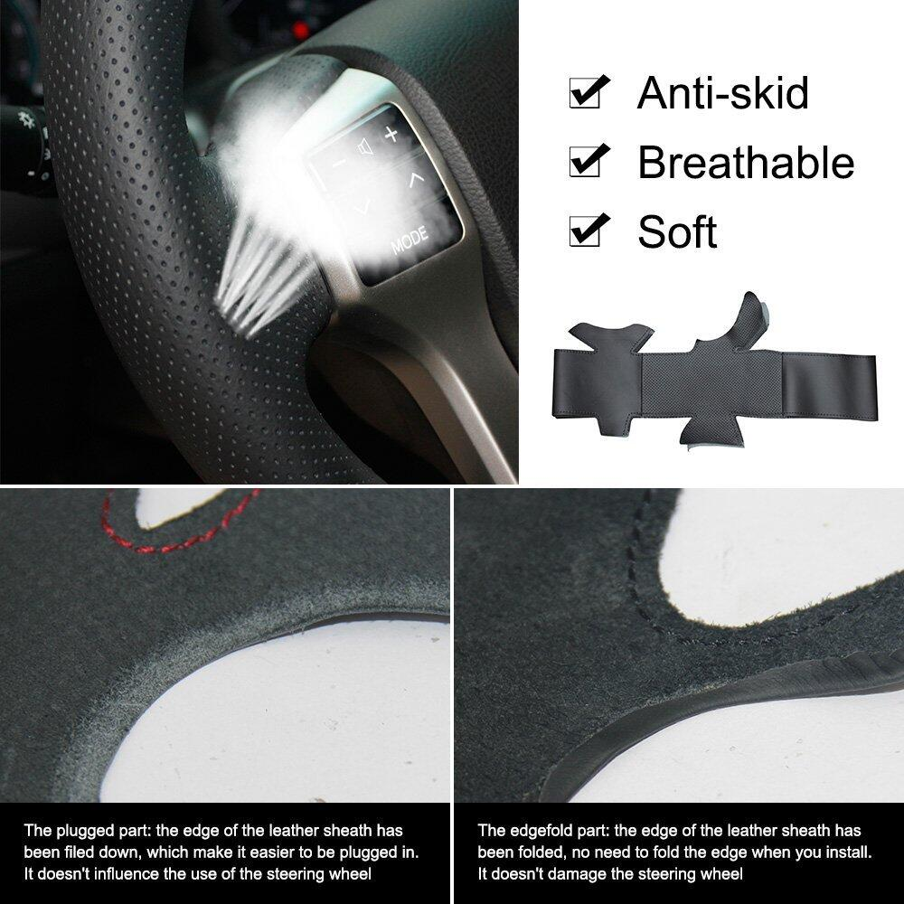 Microfiber leather car wheel steering cover for BMW X5 2010-2013 X6 2008-2013 Car styling braid on the steering wheel