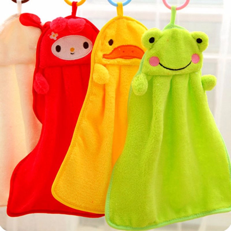 Cute Children Baby Towels Soft Coral Fleece Kid Child Towel Cartoon Baby Wipe Sweat Hung Baby Cute Newborn Infant Towel