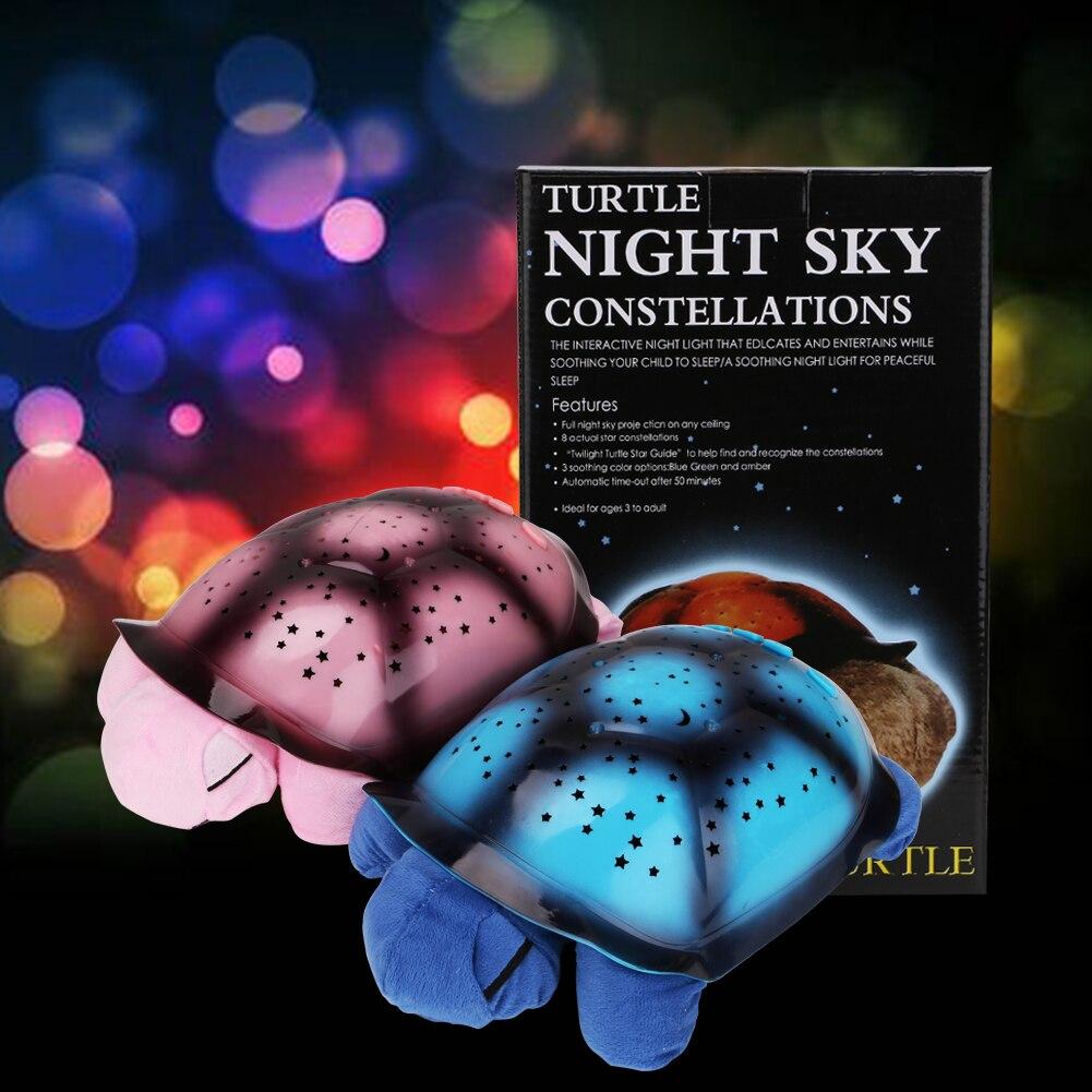 Image 3 - Coquimbo Sleeping Turtle Nursery Night Light With Baby Music USB Powered Plush Nightlight Projector Star Bedroom Night Lamp-in LED Night Lights from Lights & Lighting