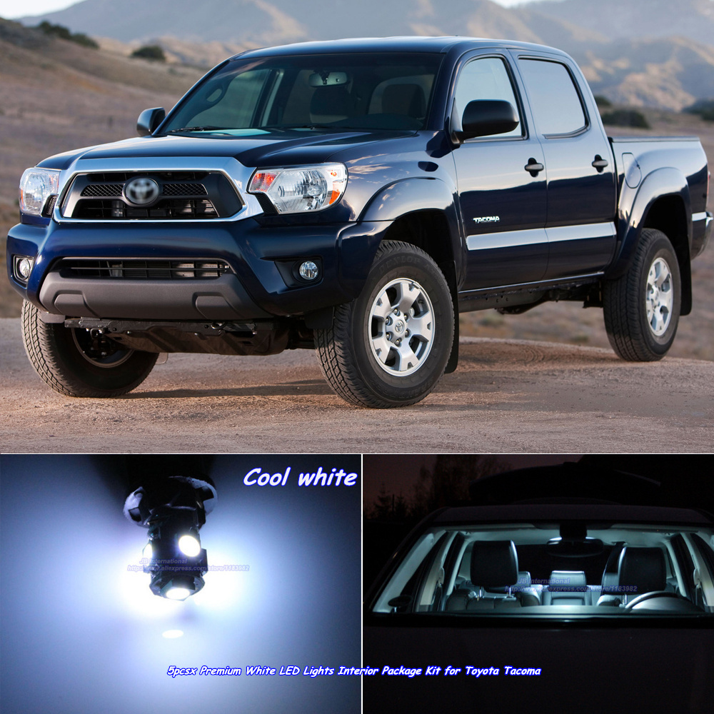 Pcs Xcar Canbus Led Interior Lights Kit Cool White For Toyota Tacoma Dome Bar