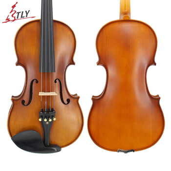 TONGLING Full Size 4/4 Advanced Violin Handcraft Matt Finished Spruce Face Maple Violin Ebony Parts w/ Rectangle Case Bow Rosin irin 4 4 wood maple electric violin fiddle with ebony fittings cable headphone case black