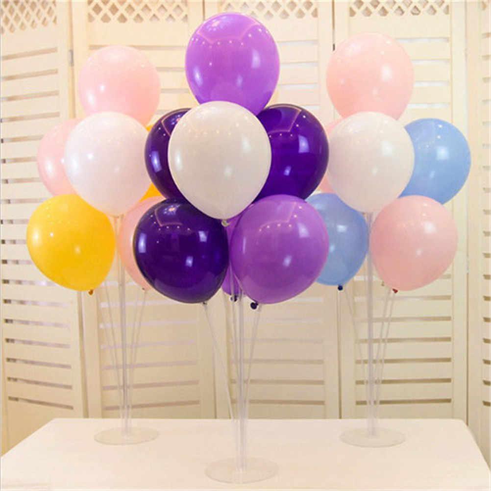 4bdf8d56c ... Globos de columna con 7 tubos de plástico transparente globo palo  decoración de la fiesta de ...