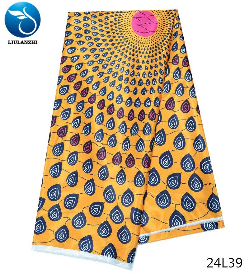 LIULANZHI gros tissu coréen soie tache impression tissu africain ankara tissu 5 yards/pièce pour vêtements ou foulards 24L20-43