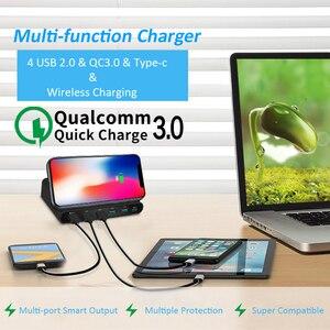 Image 5 - Stod qi carregador sem fio 10w estação de carregamento usb 60 carga rápida 3.0 suporte para iphone x samsung huawei nexus mi USB C adaptador