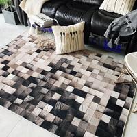 Ins скандинавский деревянный геометрический градиентный ковер для гостиной, прикроватный коврик для спальни, коврик для кабинета, нескользя