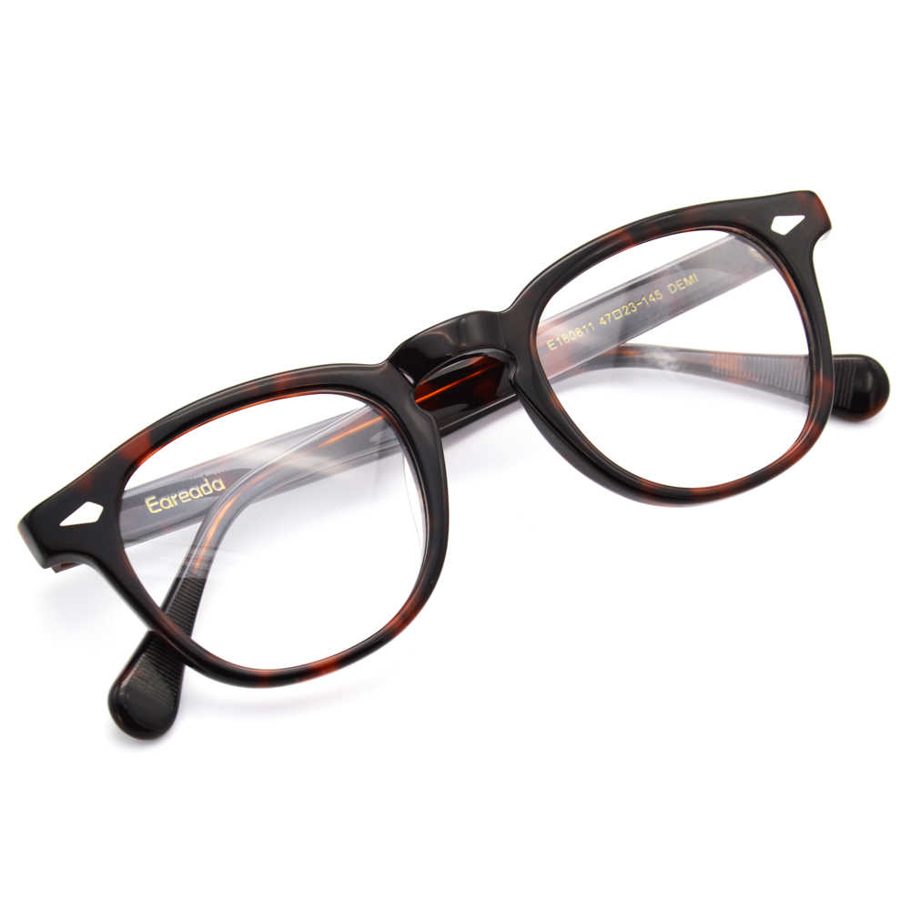 Vintage Retro Johnny Depp Michael Scofield Round Glasses Handmade Top Acetate Frame Optical Lens Eyewear unisex Spectacles
