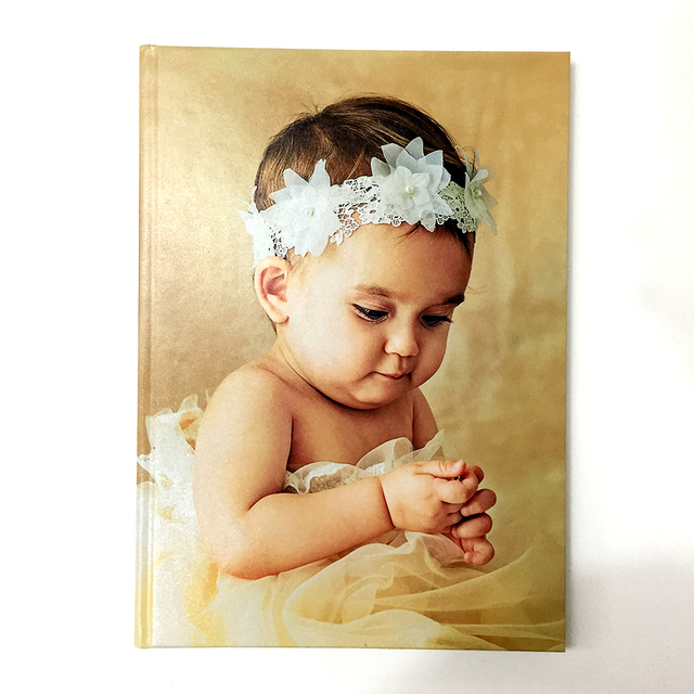 Customized Printing Hardcover Board Wedding Photo Book Digital Baby Lay Flat Flush Mount