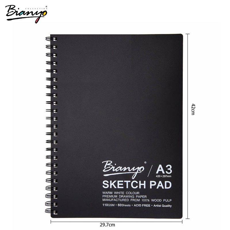 Bianyo Sketchbook Painting Notebook A3/A4/A5 Spiral Notebooks For Drawing Art Notes Stationary Notebook School & Office Supply цена 2017