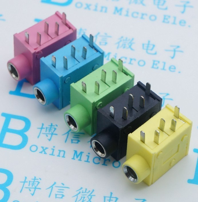 10Pcs PJ215 PJ325 3.5mm Five colours Stereo Headphone Connector Adapter Power Plug Audio Video Jack Socket Plug 10Pcs PJ215 PJ325 3.5mm Five colours Stereo Headphone Connector Adapter Power Plug Audio Video Jack Socket Plug