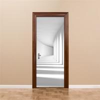 Modern Minimalist 3D Stereoscopic Abstract Art Space Murals Wallpaper Home Decor Wall Painting Living Room Door