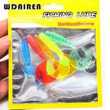 5Pcs/lot Soft bait Wobbler Jigging 6.5cm 2g Fishing Lure Curly Tail Grub Artificial Panfish Crappie Bream Trout Crankbait