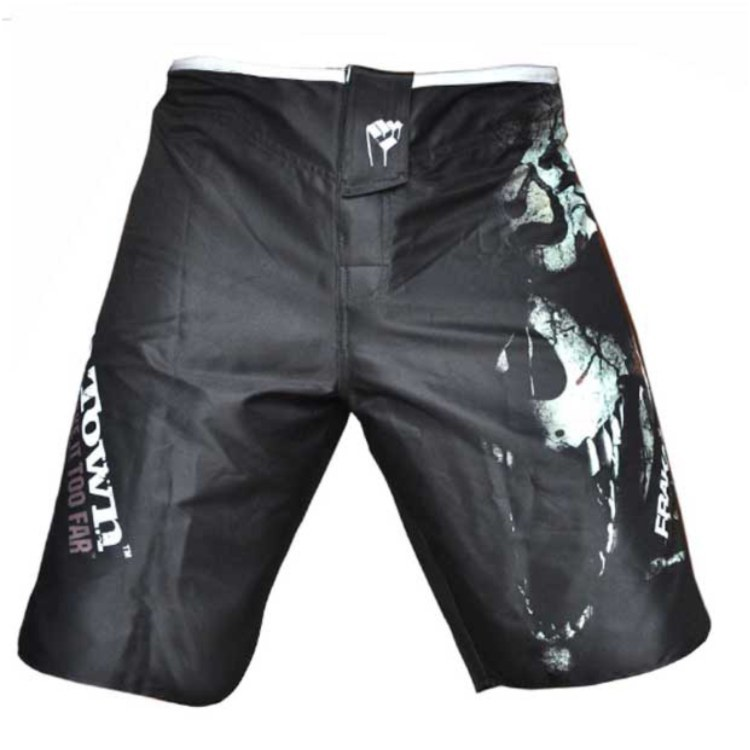 SUOTF/Новинка весны года; свободные боксерские шорты MMA muay Thai; удобные быстросохнущие спортивные тренировочные шорты; по всему миру - Цвет: Черный