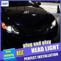 Auto Lighting Style LED Head Lamp for Toyota Reiz led headlight assembly 2010 2012 Mark X Cob drl H7 with hid kit 2 pcs.