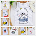 2015 new cartoon style baby boys clothes for summer cotton toddler girls clothing sleeveless O neck baby t shirts hello kitty