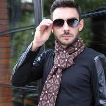 Luxury Brand Men Business Scarf Casual font b Tartan b font Bufandas Winter Thick Cashmere Scarf