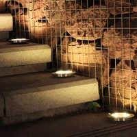 4 piezas 8 LED de energía Solar luz enterrada Luz de piso terreno al aire libre de la lámpara de camino forma terraza jardín lámparas subterráneas Dropshipping. Exclusivo.