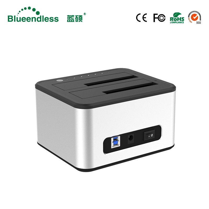 Aluminum hard disk external case 6TB hdd box 2.5/3.5 USB 3.0 hdd docking station sata to usb hdd dock 2.5 hdd case