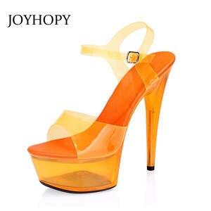 397d680b8d0 JOYHOPY Platform Super High Heels Sexy Party Shoes