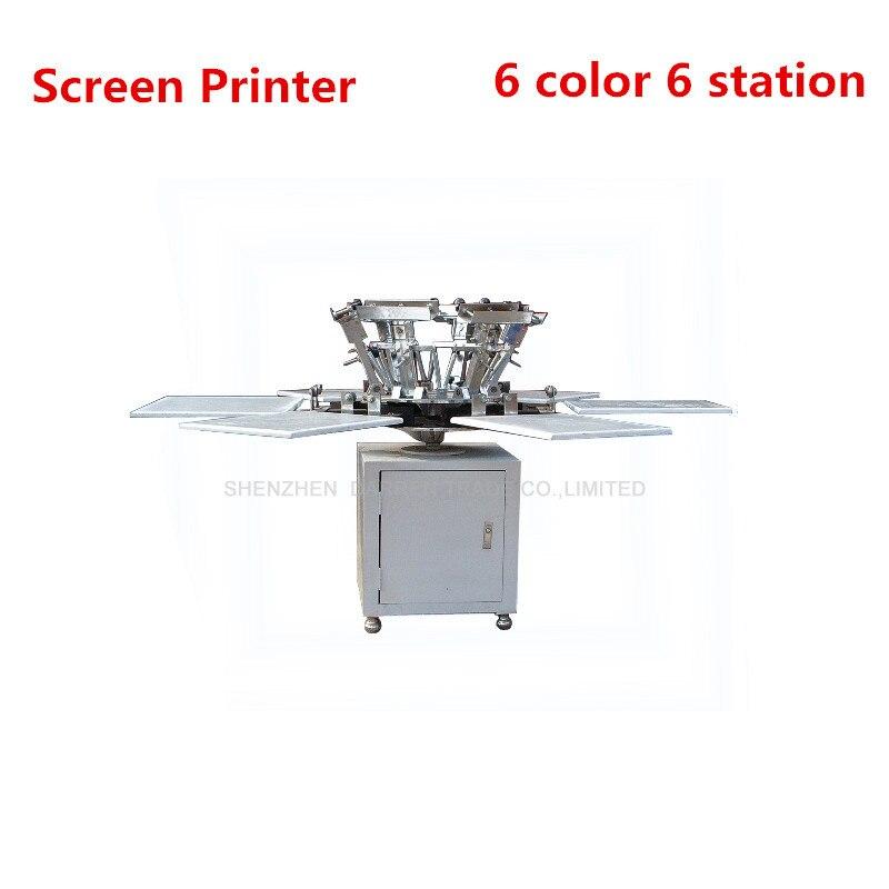 1 ensemble de 6 couleurs 6 stations T-shirt sérigraphie comeswith base