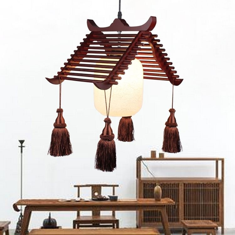 NEW Chinese Pendant Lights Pastoral Retro Solid Wood Meal American Village Creative Cafe Bar pendant lamps