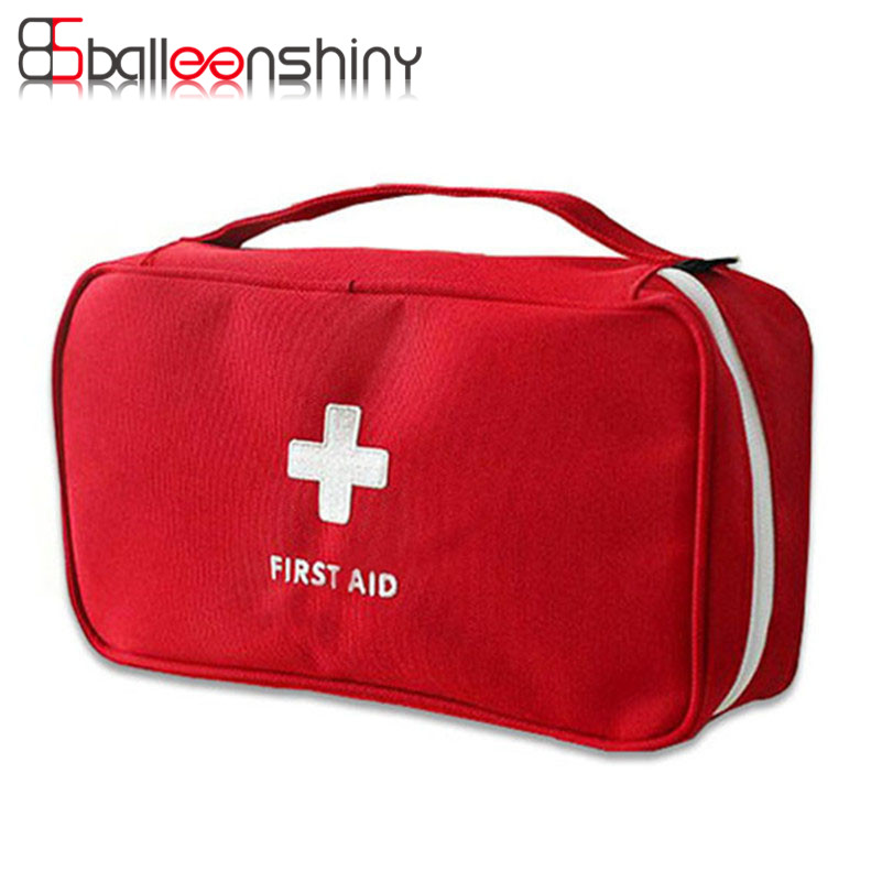 BalleenShiny Portable First Aid Emergency Medical Kit Overlevelsespose Tomme Medicin Opbevaringspose Travel Outdoor Sport Camping Tool
