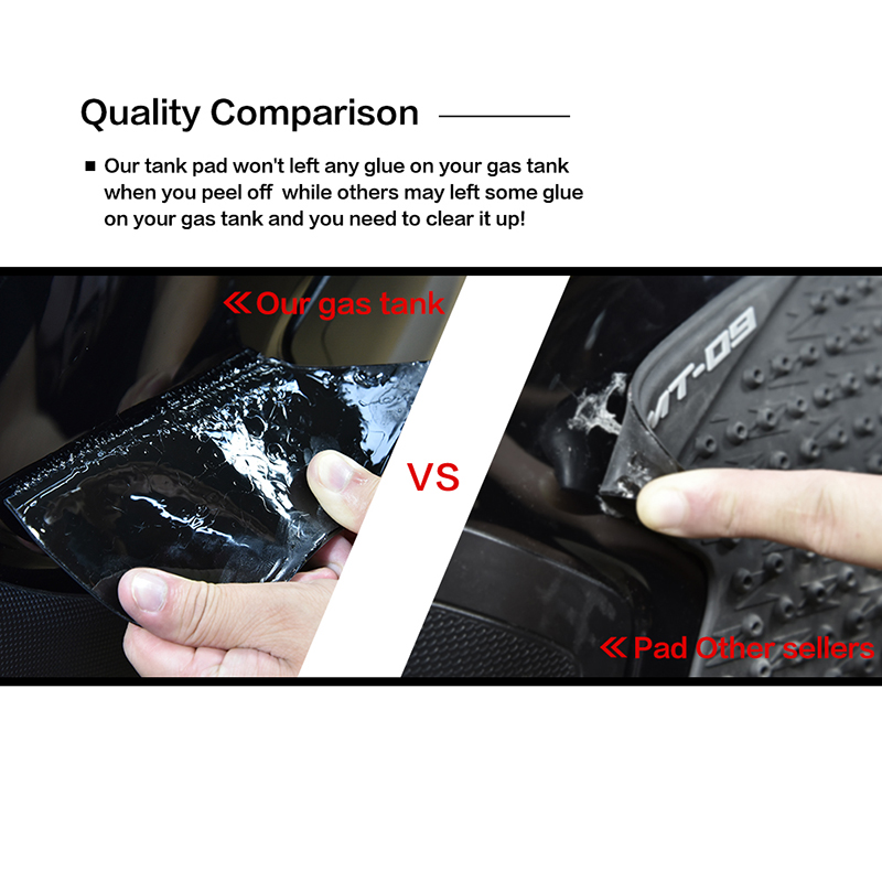 2 Pcs Rubber Motorcycle Anti slip Tank Pad 3M Side Gas Knee Grip Traction Pads Protector Sticker for Kawasaki Z1000 2014 2015 in Decals Stickers from Automobiles Motorcycles