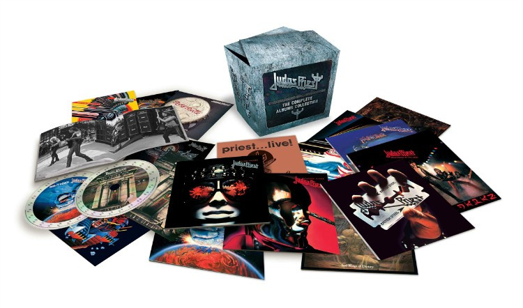 Judas Priest 19cd Complete Boxset with Booklets Music Album Box Studio Albums CD Box Set Drop Shipping цена