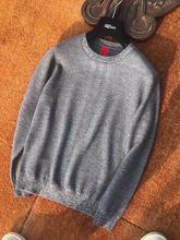 free shipping new  Casual winter O Neck pullovers soft wool men sweather  red gray
