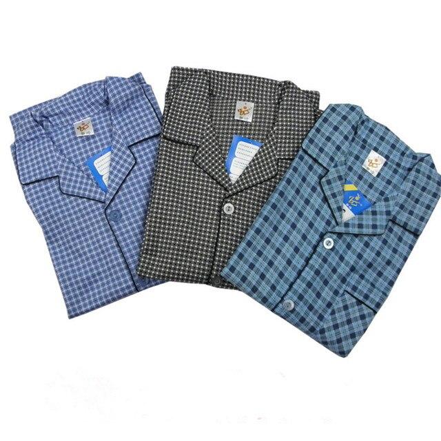 Pajamas For Men Spring And Autumn Pyjamas 100% Cotton Classic Plaid Long Sleeve Flannel Cloth Sleep Men's Lounge Pajama Sets