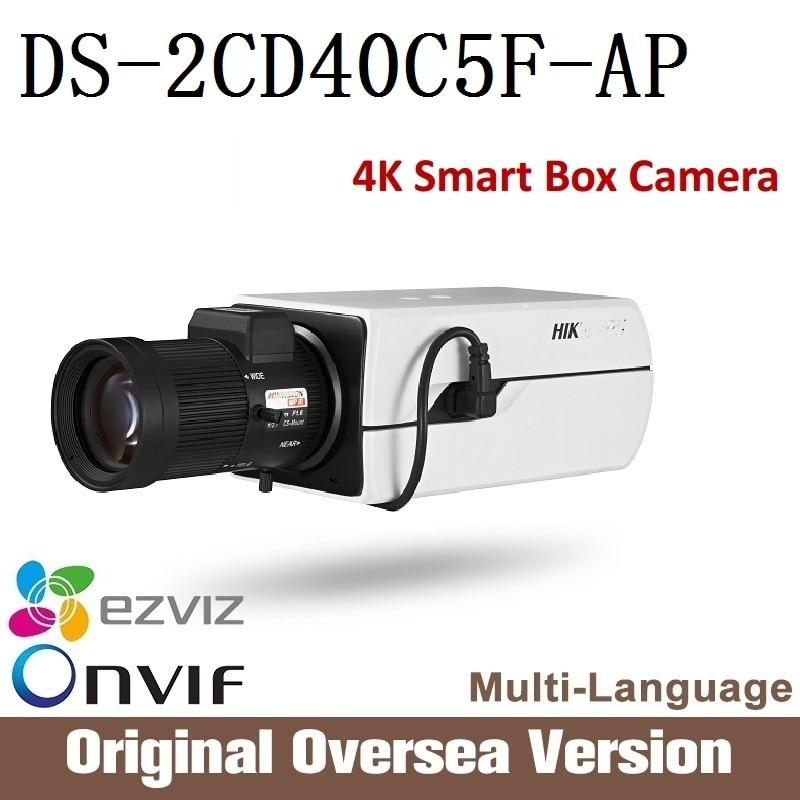 HIK  DS-2CD40C5F-AP 12mp ip camera PoE 4K Smart IP Box Camera ONVIF Smart CCTV security original English version upgrade 40 cd