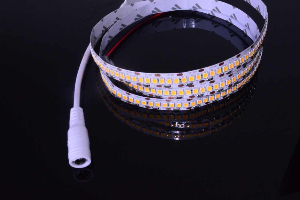 24 W/M/240LED Superbright LED Destaque lâmpada corda Luz de Tira 12 V 1 M 2835/3528 Diodo Fita Flexível DC Branco quente 0.2 W/SMD
