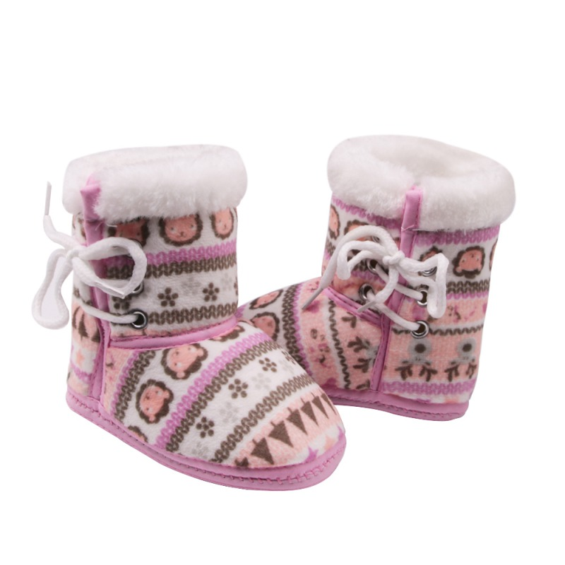5 Styles Newborn Winter Warm Boots Infant Toddler Kids Baby Shoes Cotton Padded Snowshoes Baby Booties 0-12M