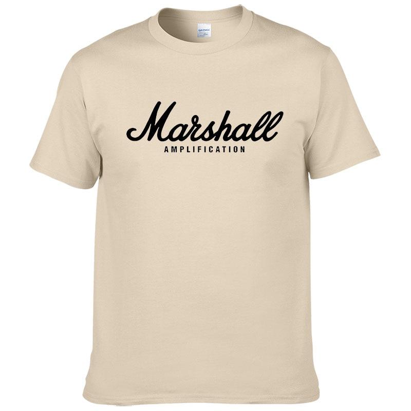 100% cotton Marshall T Shirt men short sleeves tee hip hop street wear for fans hipster 29