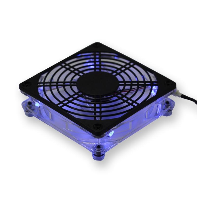 12cm 5V USB Fan Computer Cooling Cooler fan Laptop Heatsink Fan Blue Led