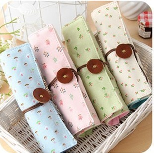Fresh d331 small roll pencil case pen curtain stationery storage bag cosmetic bag