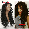 Hand Sewed Brazilian hair heat hesistant Blended lace front wigs glueless 3 combs with straps180% Full density lace front wigs