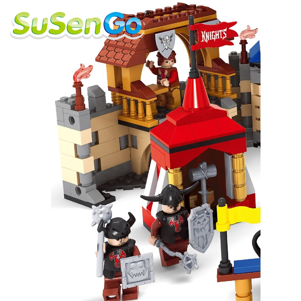 SuSenGo Model Building Kits Knights 27908 Castle Series 3D Blocks Educational Toys Hobbies For Children SGAS27908 outdoor double layer awning beach tent sun shelter camping tent uv protection sunshade camping tent mat awning mat shelter