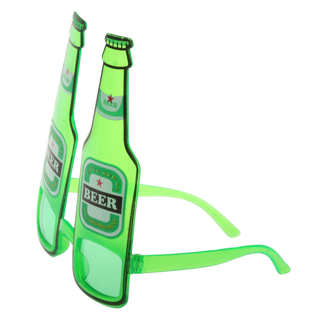 New Hot Hawaiian Summer Beach Novelty Sunglasses Beer Bottle Glasses Goggles for Hen Night Stag Fancy Dress Costume Party Green