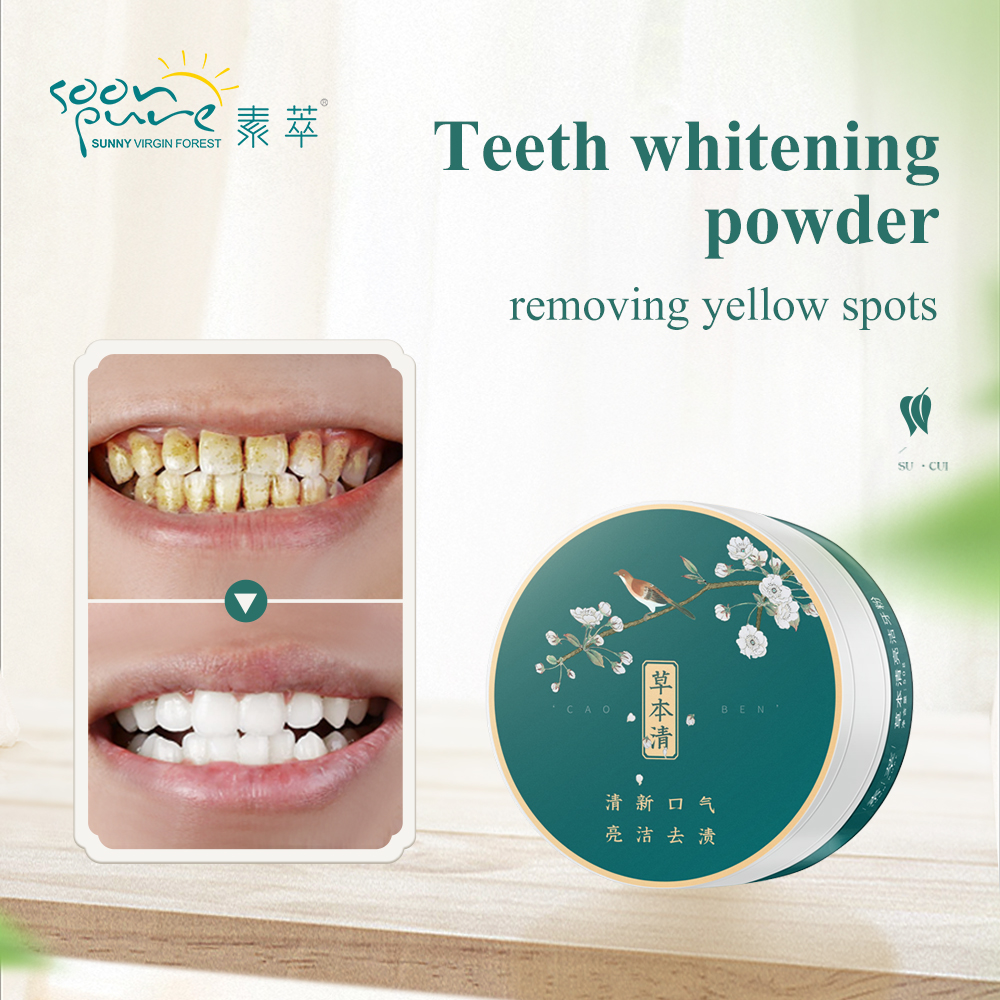 Soonpure Teeth Whitening Powder Dental Tools Snap On Smile Oral Hygiene Cleaning Tooth Cleaning Essence Teeth Care Toothpaste