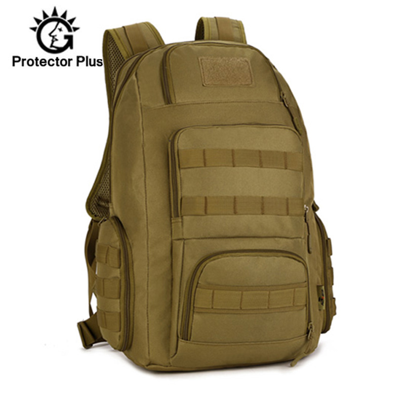 40L Men's Backpack Waterproof Nylon Man Women Military Rucksack Travel 14 Inch Laptop Bag Molle Army Hike Bags Sport XA41D