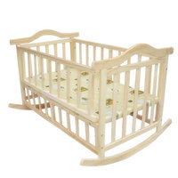 105cm/120cm extra big size baby bed, can load adult, no paint baby crib newborn baby cradle, rocking bed with mmosquito net