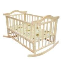 120 см/105 см очень большой размер детская кровать, можно загрузить взрослых, без краски детская кроватка Новорожденный ребенок колыбель, кача